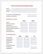 Financial Information Task Spreadsheet Sample PDF Free