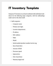IT Inventory Spreadsheet Example PDF Template Free