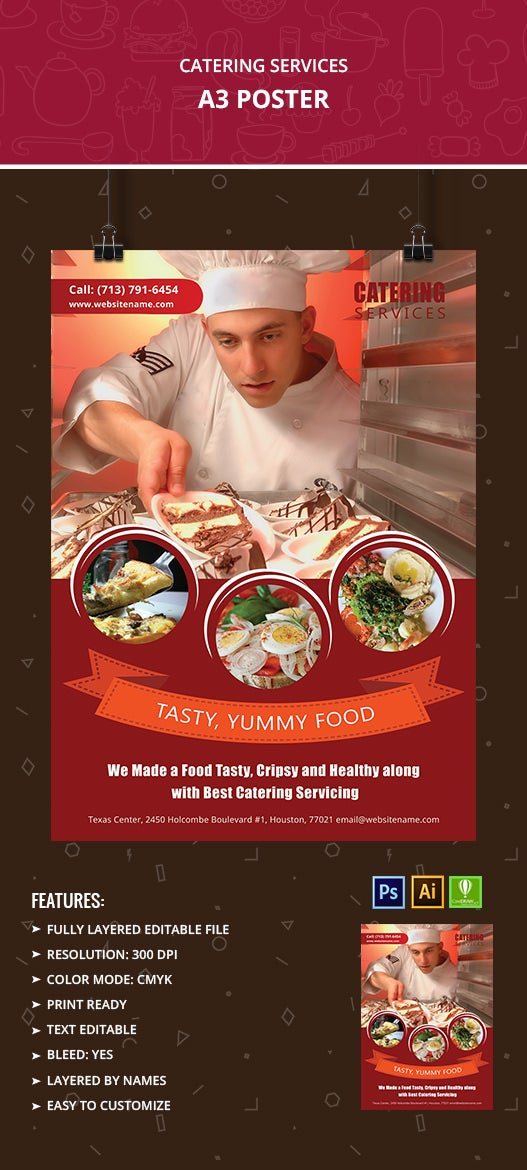 Cateringservices Poster on simple family tree template
