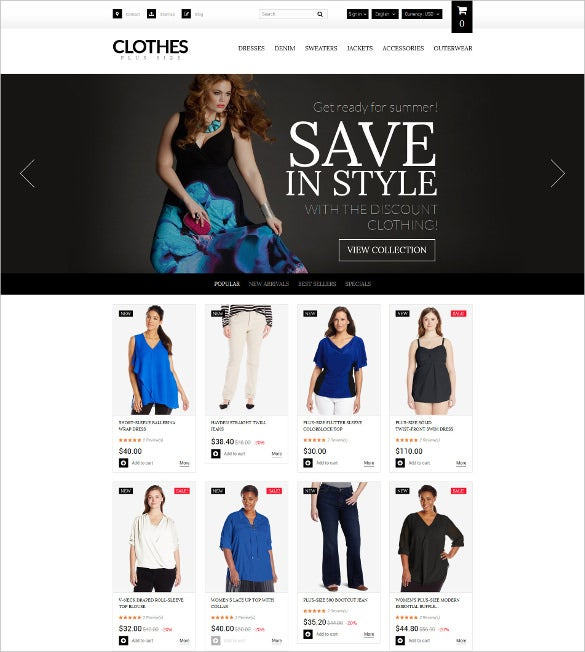 retail womens clothing prestashop theme
