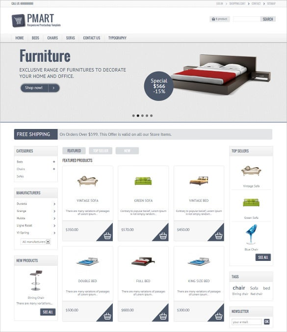 retail clean ecommerce prestashop theme