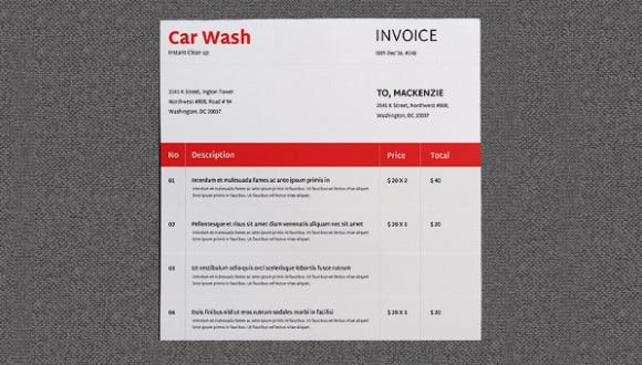 Car Wash Invoice 28 Images Car Repair Invoice Template Uk 2017