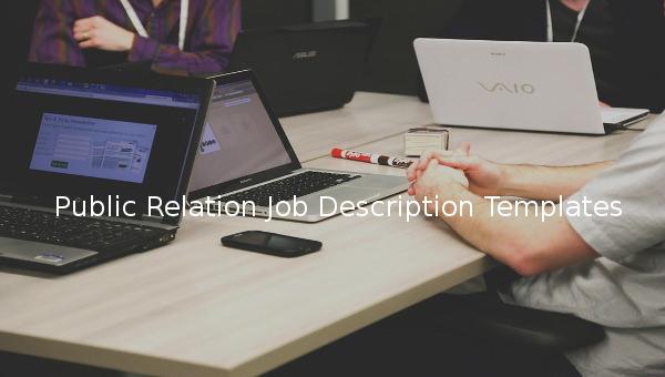 public relation job description template