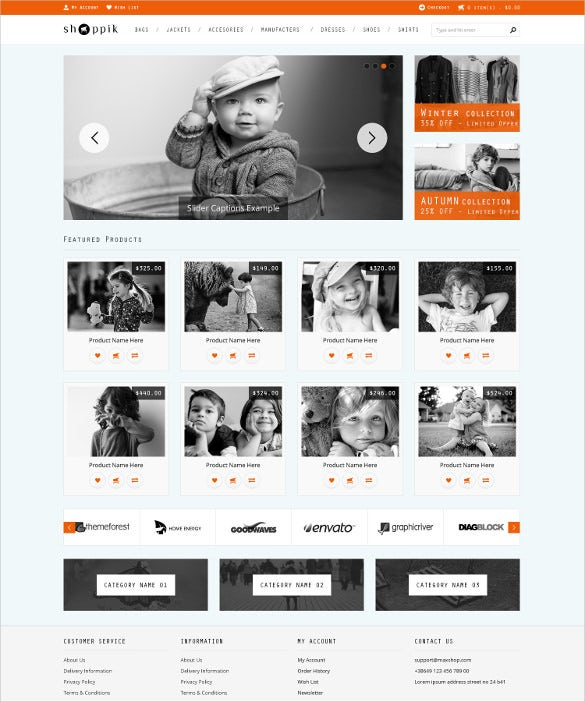 retail html ecommerce prestashop template