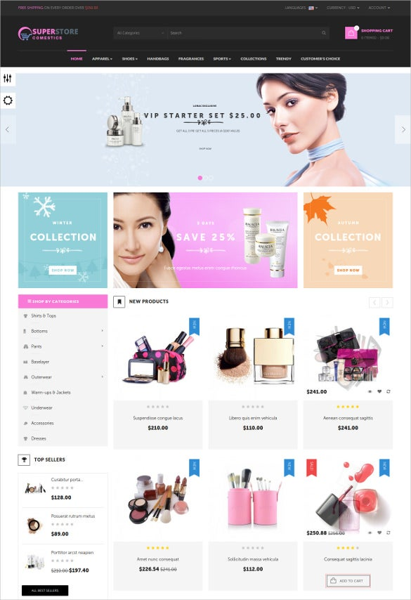 retail cosmetic prestashop theme