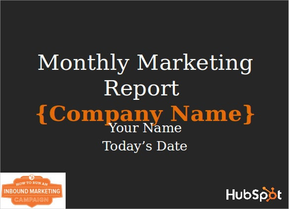 Marketing Report Template   Free Word  Documents Download