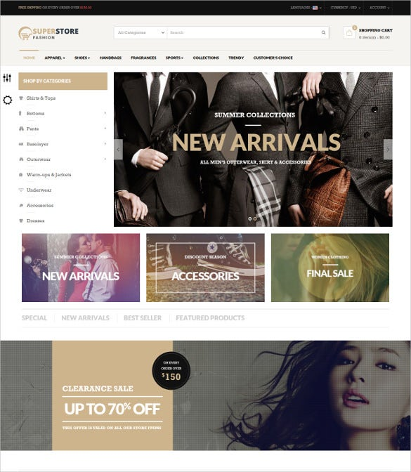 retail fashion store prestashop theme