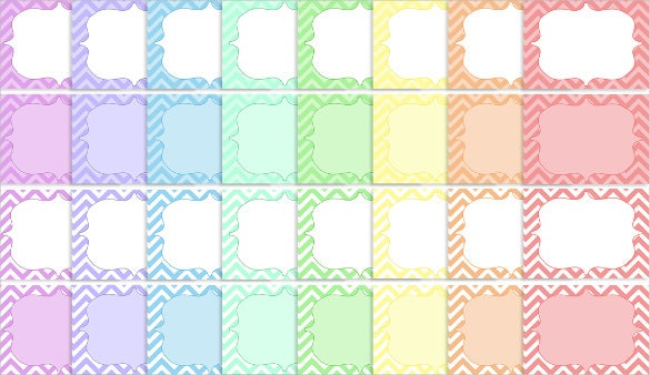a rainbow of sample address labels