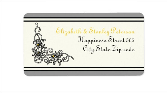 flourish sample address label