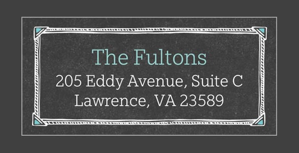 chalkboard frame format address label
