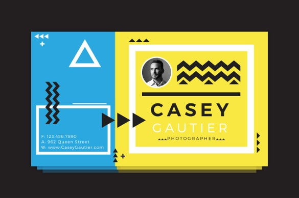 casey gautier example address label business card