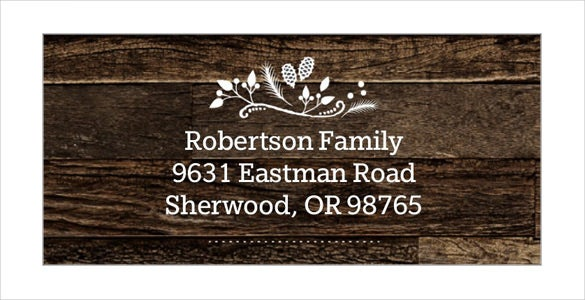 rustic greetings sample address label