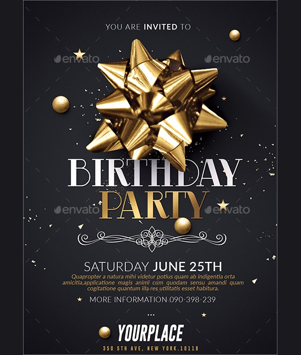 22+ birthday invitation templates - free psd, ai, vector, eps, Birthday invitations