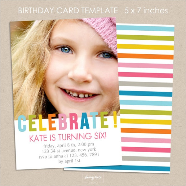 Birthday Invitation Template Design