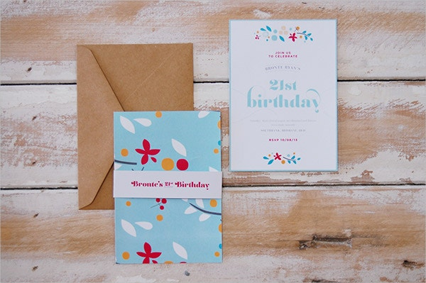 Bronte's 21st Birthday Invitation Template