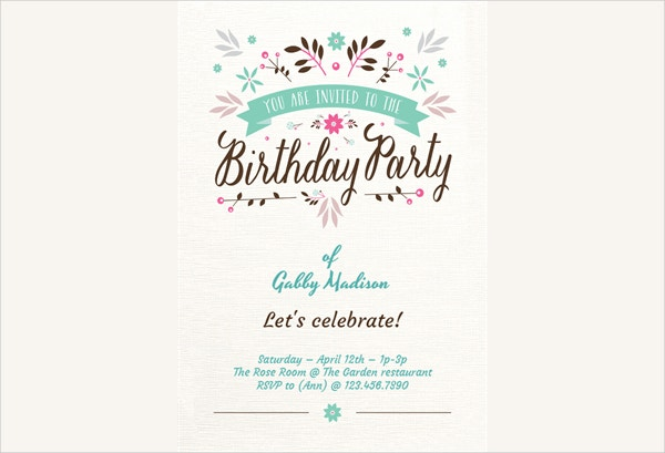 Basic Birthday Party Invitation