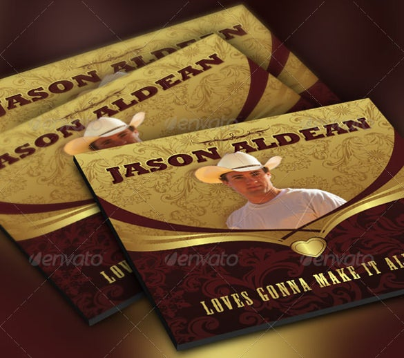 country artist sample cd label and insert template