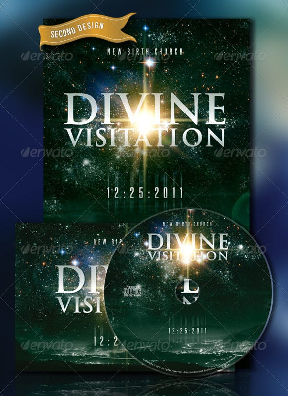 divine visitation flyer postcard format cd label