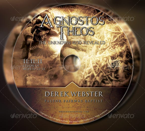 god church flyer and example cd label