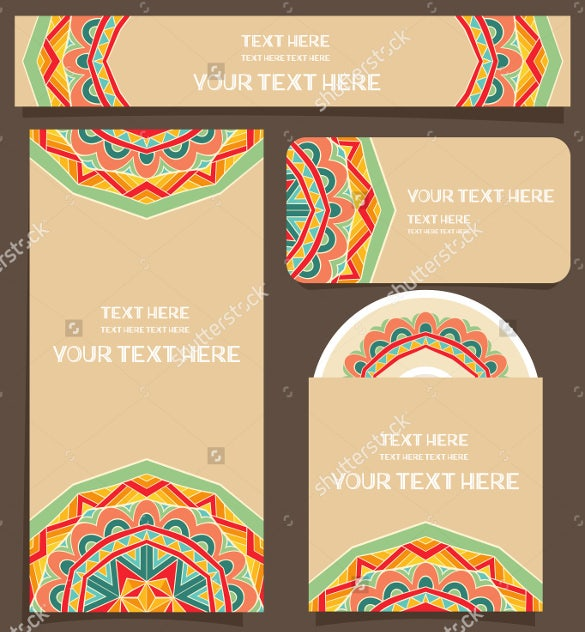 branding design vector cd label format template