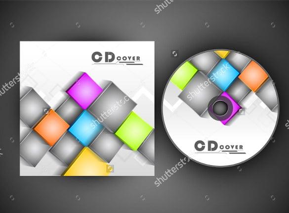 cd cover sample label
