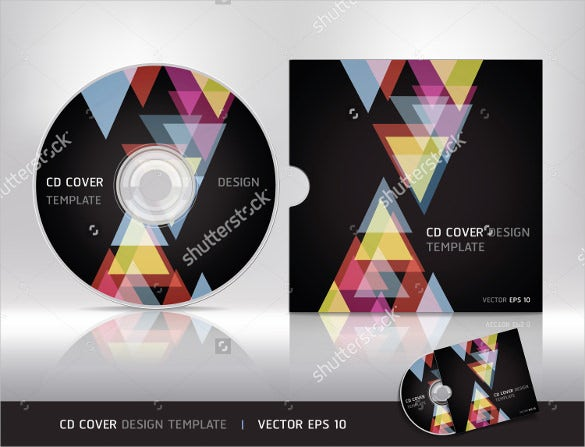 cd cover label design format template