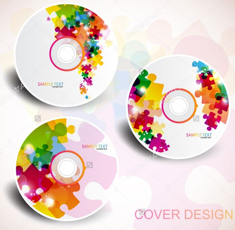 example vector cd label template  788x772