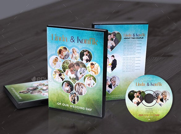wedding dvd cover cd label of sample
