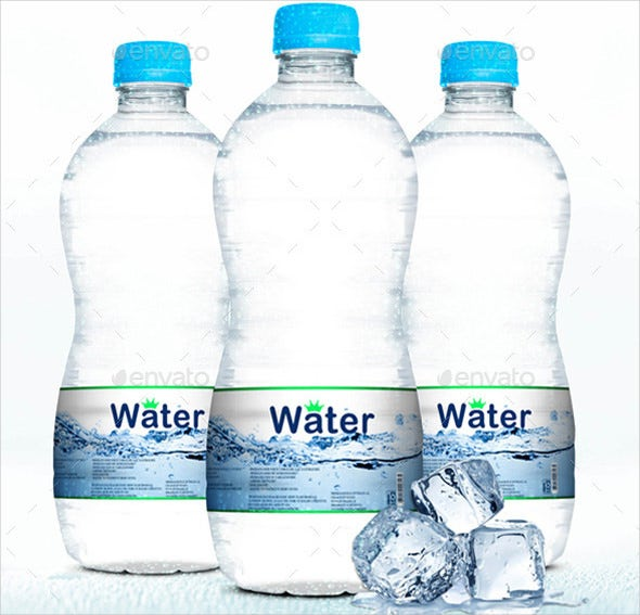 25 water bottle label templates free sample example for Free water bottle label template