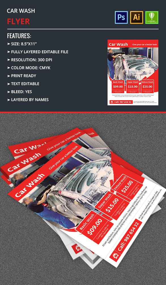 Car Wash Flyer Template  Free  Premium Templates