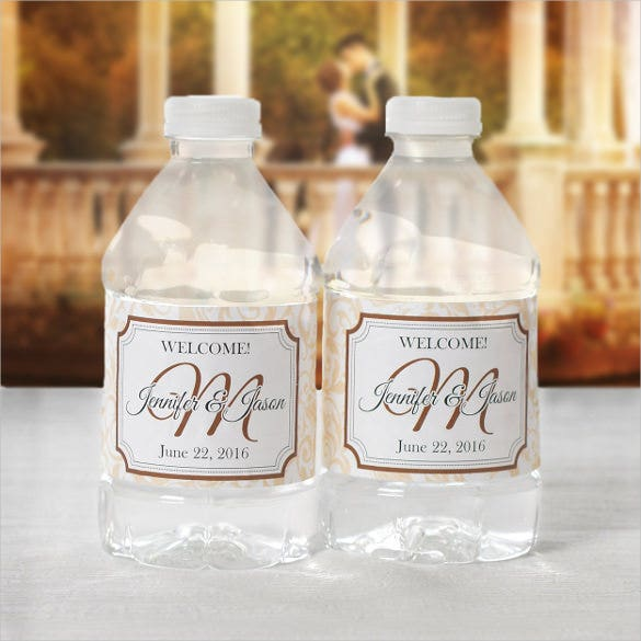 Water Bottle Label Templates Free Sample Example Format