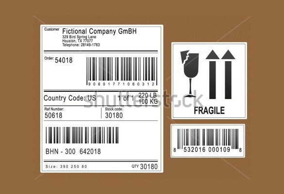 packaging shipping labels format download