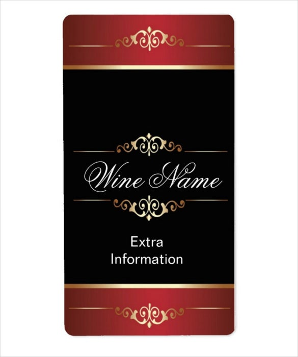 classic gold red black example shipping label
