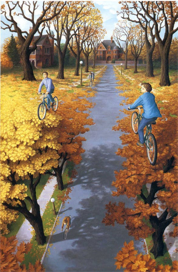 cycling magical painting