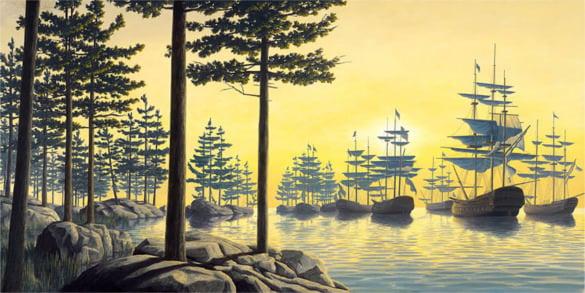 trees ships