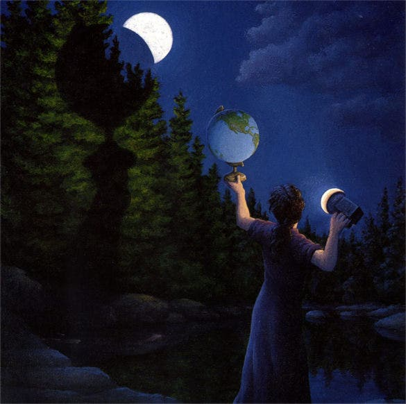 half moon magical painting
