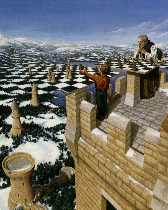 castle using as chess