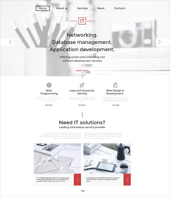 effective it solutions wordpress bootstrap theme