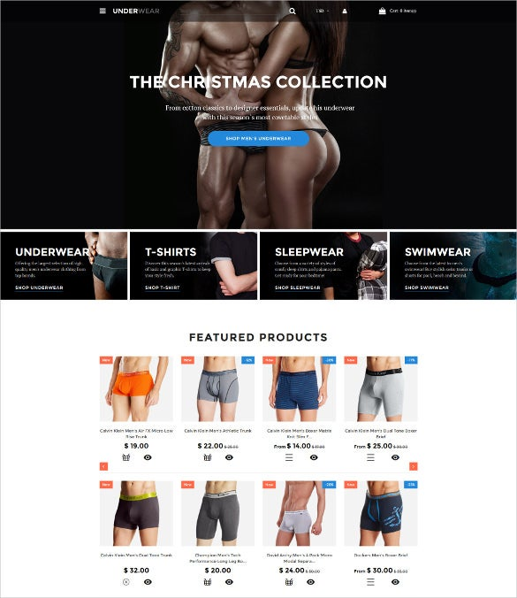 underware for men shopify bootstrap theme