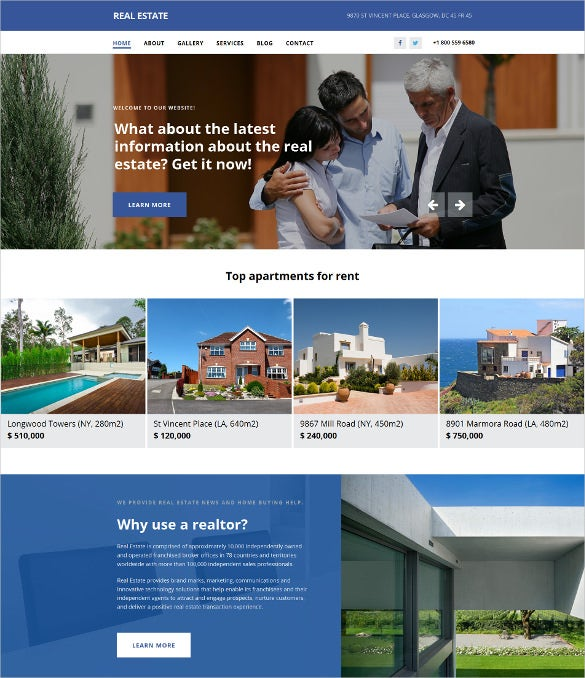 real estate agency responsive moto cms 3 bootstrap template