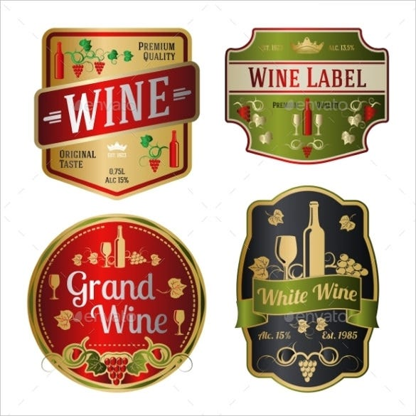 sample wine label template1