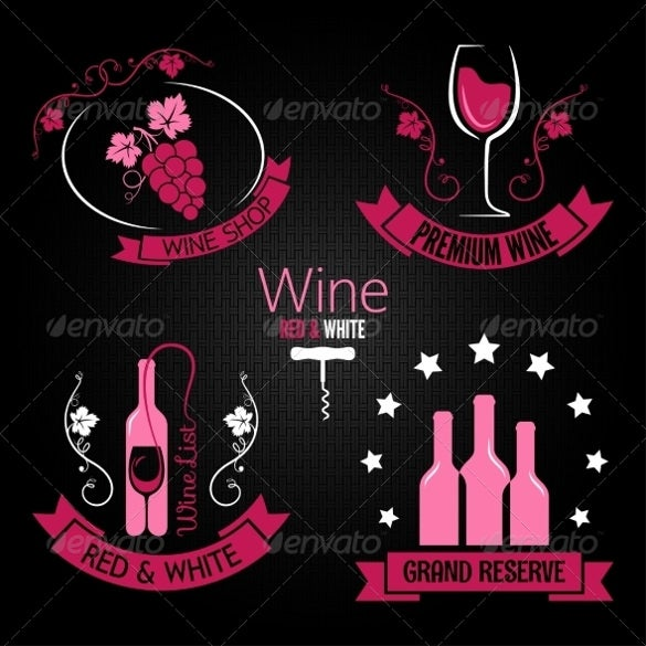 example wine label template
