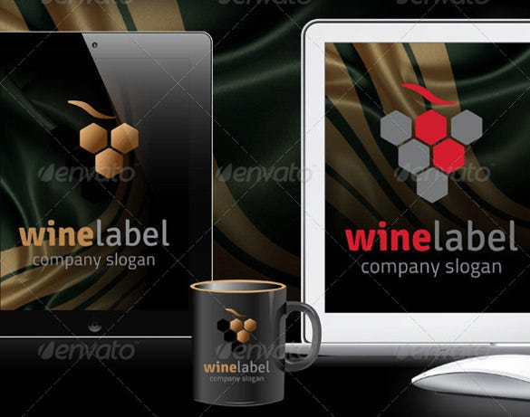 wine label format tempate