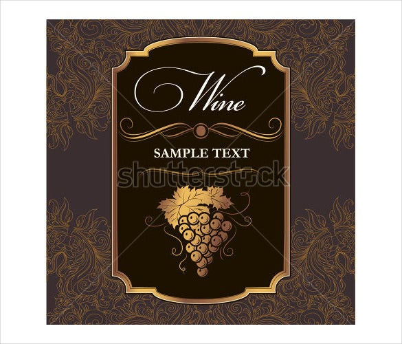 wine label format template download