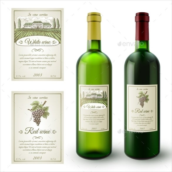 Sample Wine Label Template Download  Free Wine Bottle Label Templates