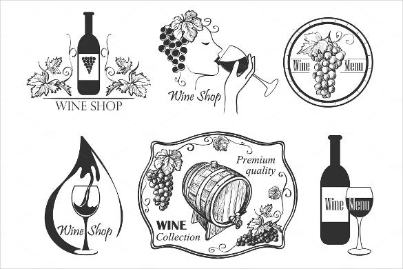 format wine label collection