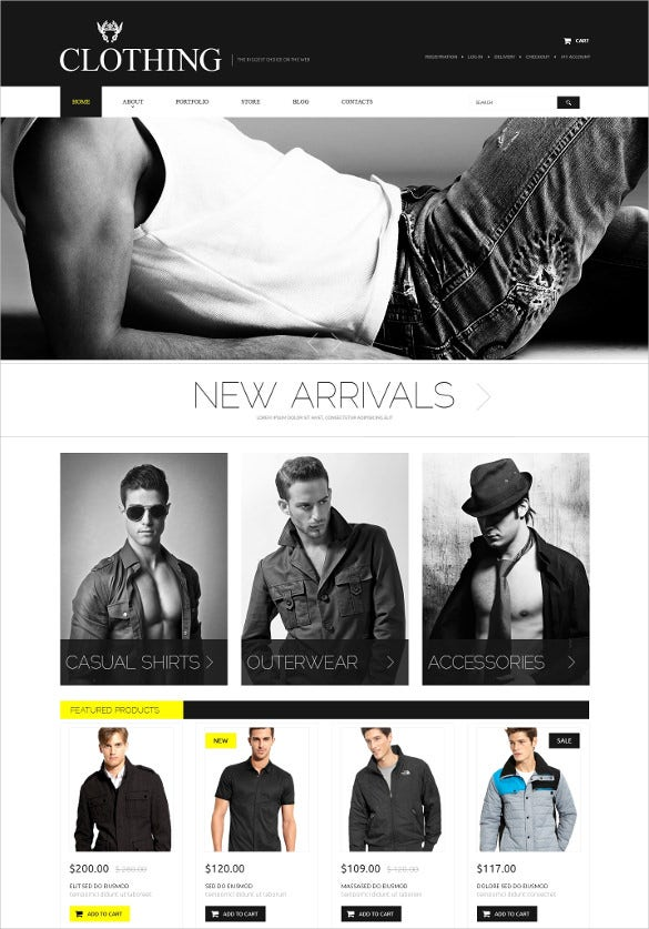 retail apparel psd template