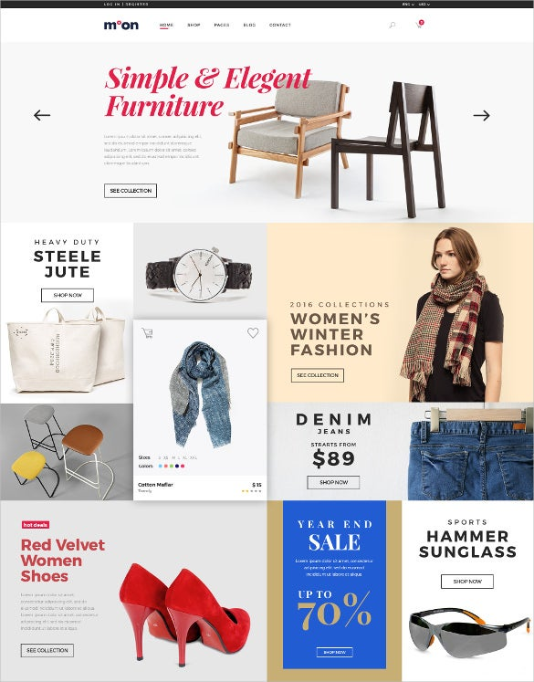 retail ecommerce psd template