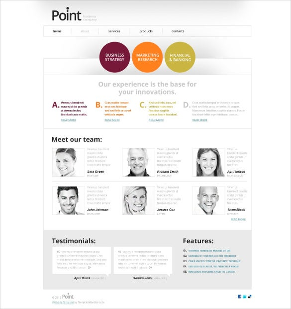 free business html5 website theme