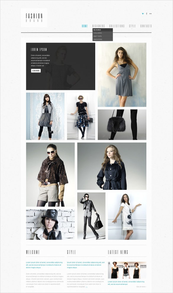 retail fashion store psd template